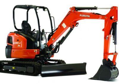 Kubota U35-4 Mini Excavator – Open Station