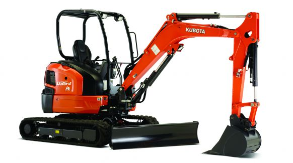 Kubota U35-4 Mini Excavator – Open Station